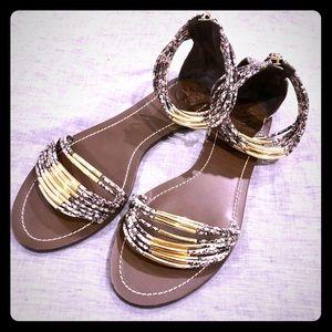 Tory Burch Snakeskin Sandals